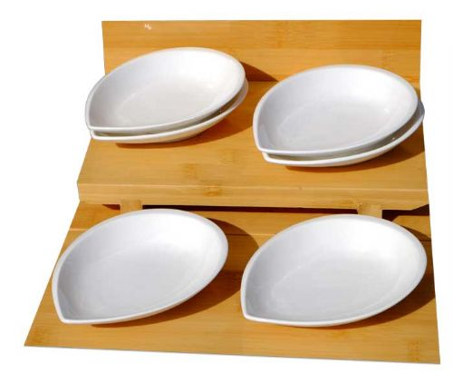 WHITE PETAL DISHES 12.5CM X6